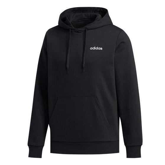 adidas Mens Essentials Feelcozy Fleece Hoodie, Black, rebel_hi-res