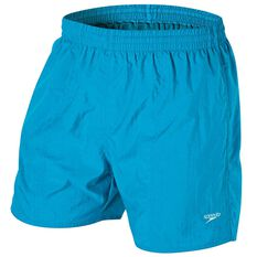 Speedo Mens Solid Leisure Swim Shorts Light Blue S Adult, Light Blue, rebel_hi-res