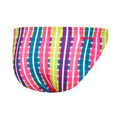 Speedo Womens Vivid Check Basic Swim Pant Pink 8, Pink, rebel_hi-res