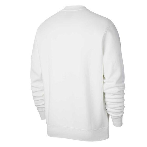 Nike Mens Sportswear Just Do It Fleece Sweatshirt, White, rebel_hi-res