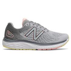 New Balance 680 v7 D Womens Running Shoes Grey/Coral US 6, Grey/Coral, rebel_hi-res