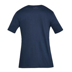 Under Armour Mens Sportstyle Logo Tee Navy S, Navy, rebel_hi-res