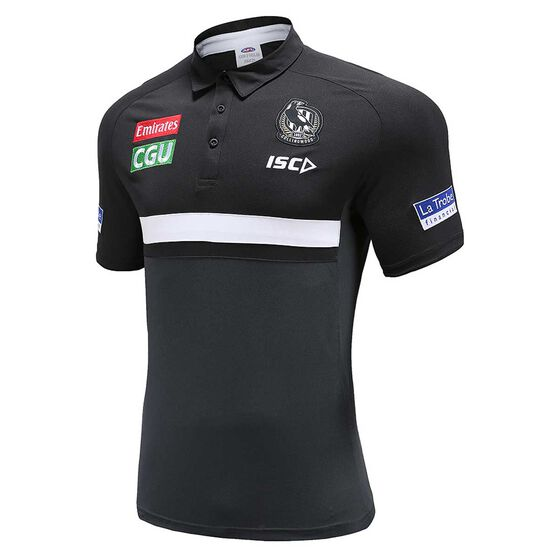 Collingwood Magpies 2020 Mens Performance Polo Shirt, , rebel_hi-res