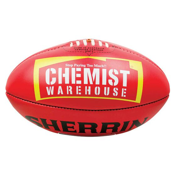 Sherrin Official AFLW Australian Rules Game Ball Red 4, , rebel_hi-res