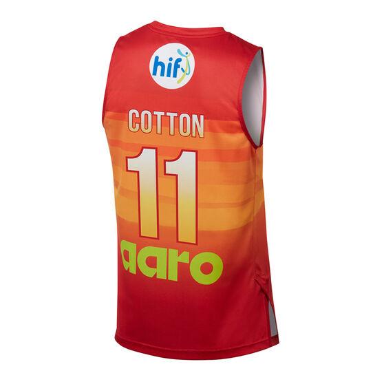 Perth Wildcats Bryce Cotton City Edition 2019/20 Kids Jersey, Red / Orange, rebel_hi-res