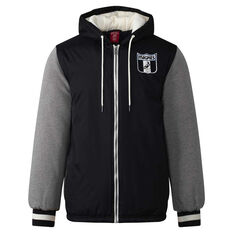 Collingwood Magpies Mens Sideline Jacket Black S, Black, rebel_hi-res