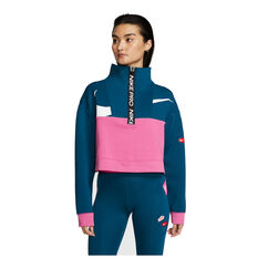 Nike Pro Womens Get Fit Icon Clash Jacket Blue / Pink XS, Blue / Pink, rebel_hi-res