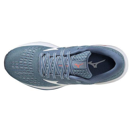 Mizuno Wave Inspire 17 Womens Running Shoes, Blue/Orange, rebel_hi-res