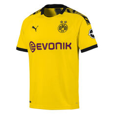 Borussia Dortmund Mens 2019/20 Home Jersey Yellow S, Yellow, rebel_hi-res