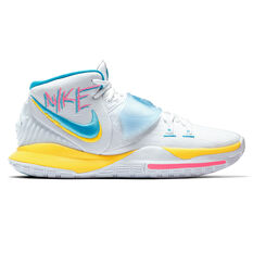 Nike Kyrie VI Mens Basketball Shoes White/Blue US 7, White/Blue, rebel_hi-res