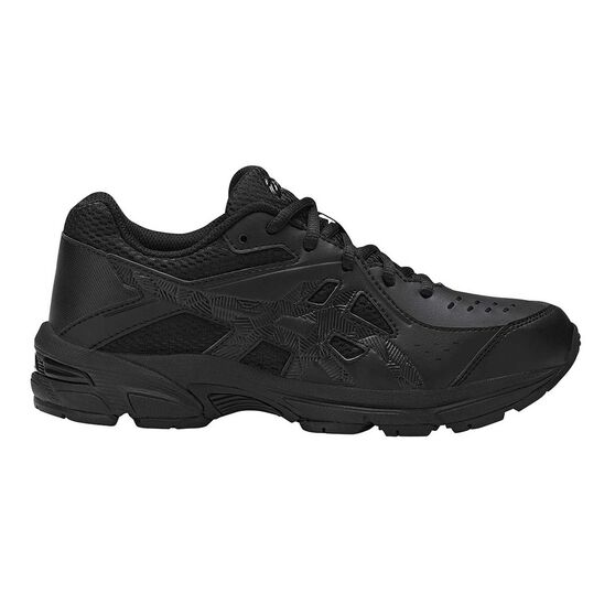 Asics GEL 195TR Leather Boys Running Shoes, Black, rebel_hi-res
