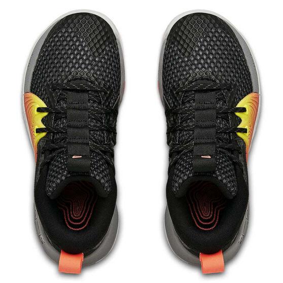 Under Armour Embiid 1 Kids Basketball Shoes, Black, rebel_hi-res