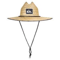 Quiksilver Mens Dredged Straw Lifeguard Hat Natural S/M, Natural, rebel_hi-res