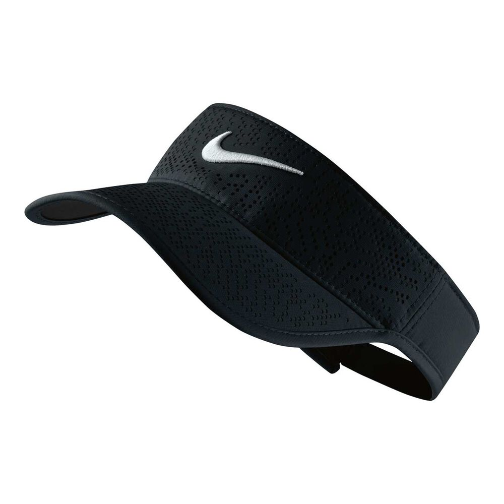 Nike Womens Tech Adjustable Golf Visor Black   White OSFA  1f75607f15f