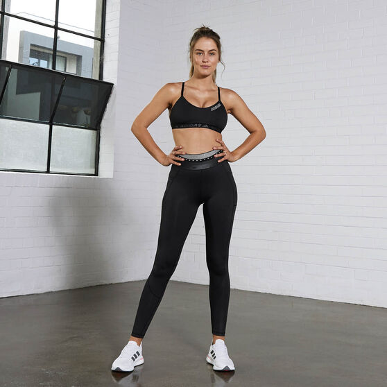 adidas Womens Techfit Badge Of Sport Long Tights, Black, rebel_hi-res