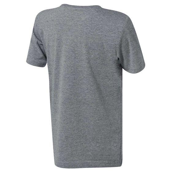 Nike Boys Air Jordan Front Circle Tee, Grey, rebel_hi-res