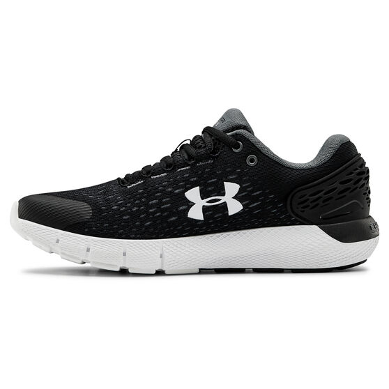 Under Armour Charged Rogue 2 Womens Running Shoes, Black / Grey, rebel_hi-res