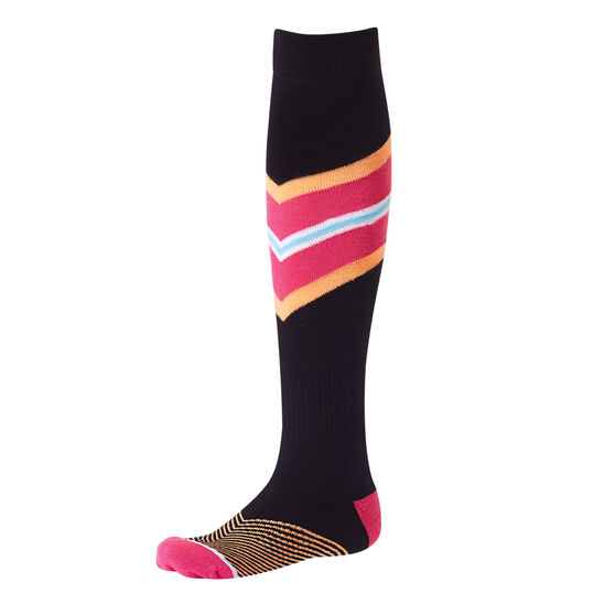 Tahwalhi Womens Stripe Ski Socks, , rebel_hi-res