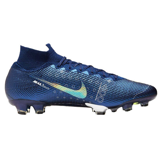 Nike Mercurial Superfly VII Elite Football Boots Blue / Silver US Mens 8 / Womens 9.5, Blue / Silver, rebel_hi-res
