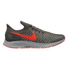 Nike Air Zoom Pegasus 35 Mens Running Shoes Grey / Black US 7, Grey / Black, rebel_hi-res