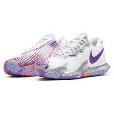 Nike Air Zoom Vapor Cage 4 Womens Tennis Shoes, White/Purple, rebel_hi-res