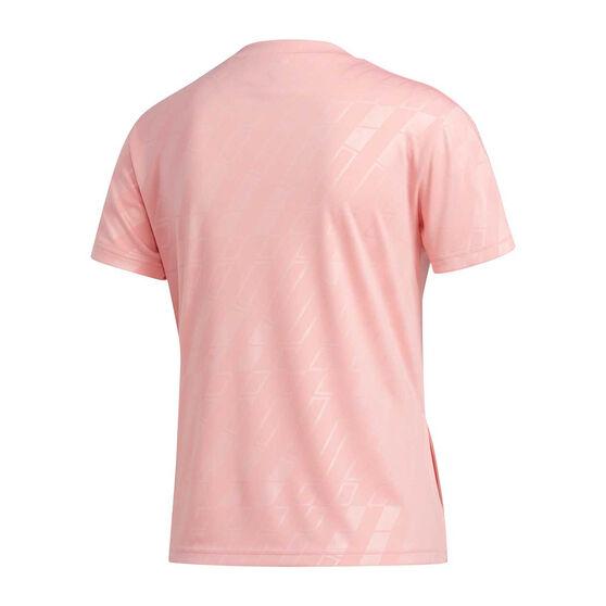 adidas Womens Badge It Up Tee Pink S, Pink, rebel_hi-res