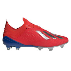 adidas X 18.1 Mens Football Boots Red / Silver US Mens 10.5 / Womens 11.5, Red / Silver, rebel_hi-res