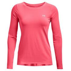 Under Armour Womens HeatGear Armour Training Top, Pink, rebel_hi-res