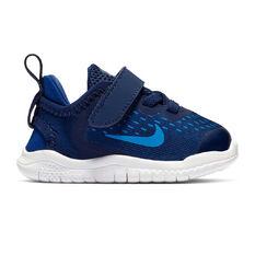 Nike Free RN 2018 Toddlers Shoes Navy / White US 2, Navy / White, rebel_hi-res