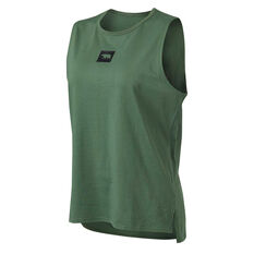 Running Bare Womens Easy Rider Muscle Tank Green 8, Green, rebel_hi-res