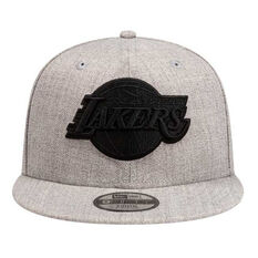 Los Angeles Lakers New Era 9FIFTY Heather Blackout Cap, , rebel_hi-res