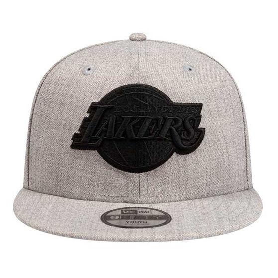 Los Angeles Lakers New Era 9FIFTY Heather Blackout Cap, , rebel_hi-res