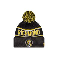 Richmond Tigers New Era Supporter Beanie Black/Yellow OSFA, , rebel_hi-res