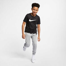 Nike Boys Dry Legend Swoosh Tee, Black / White, rebel_hi-res