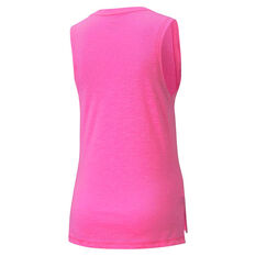 Puma Womens Favourite Cat Muscle Training Tank Pink XS, Pink, rebel_hi-res