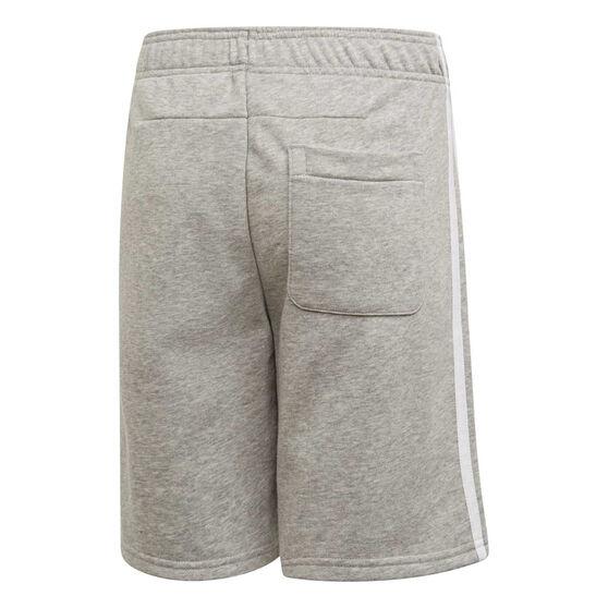 adidas Boys Must Haves 3-Stripes Shorts, Grey / White, rebel_hi-res