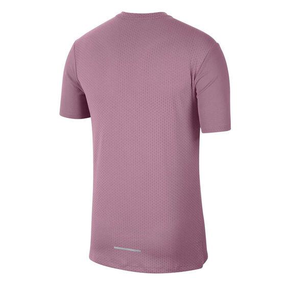 Nike Mens Dri-FIT Miler Future Fast Running Tee, Purple, rebel_hi-res