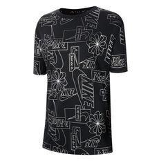 Nike Womens Icon Clash Sportswear Tee Black XS, Black, rebel_hi-res