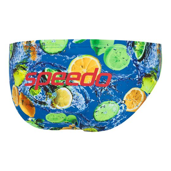 Speedo Mens Escape 5cm Lemonade Brief Blue 14, Blue, rebel_hi-res