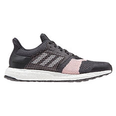 adidas Ultraboost ST Womens Running Shoes Black / Grey US 5, Black / Grey, rebel_hi-res