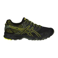 Asics GEL Sonoma 3 Mens Trail Running Shoes Black / Yellow US 7, Black / Yellow, rebel_hi-res