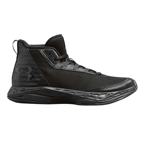 Under Armour Jet 2018 Kids Basketball Shoes, Black, rebel_hi-res