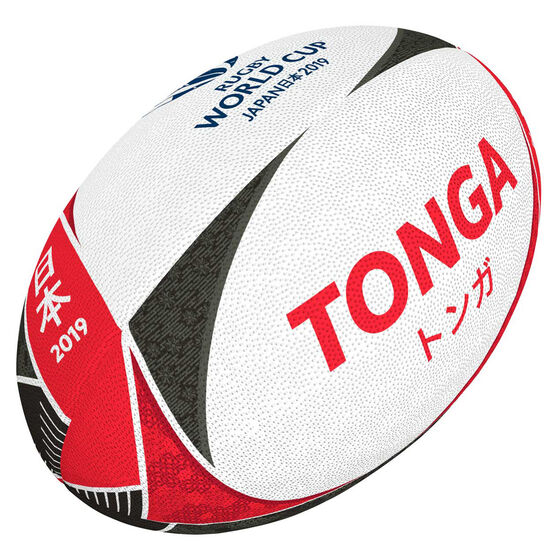 Gilbert Rugby World Cup 2019 Tonga Supporter Rugby Ball, , rebel_hi-res