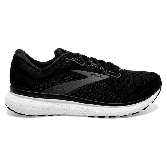 Brooks Glycerin 18 Mens Running Shoes, Black/White, rebel_hi-res