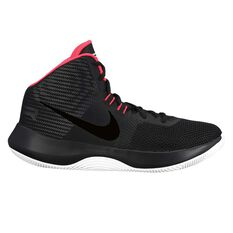 Nike Air Precision Mens Basketball Shoes Black / Red US 7, Black / Red, rebel_hi-res