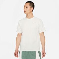 Nike Mens Cosmic Unity Basketball Tee, White, rebel_hi-res