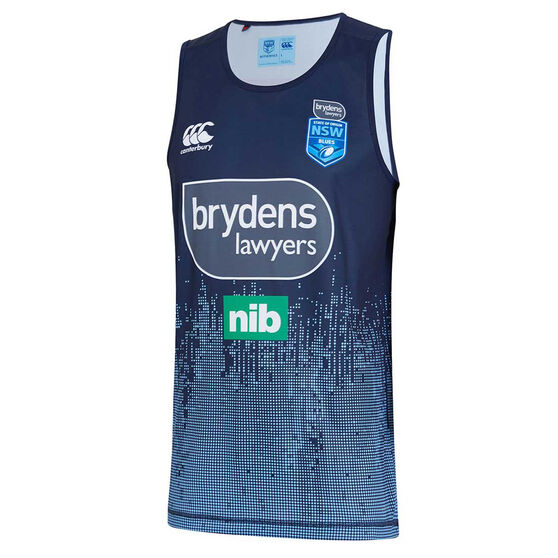 NSW Blues 2019 Mens Light Blue Training Singlet, Navy, rebel_hi-res