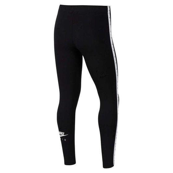 Nike Air Girls Sportswear Favourite Leggings, Black / White, rebel_hi-res