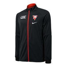 Sydney Swans 2021 Mens Track Jacket Black S, Black, rebel_hi-res