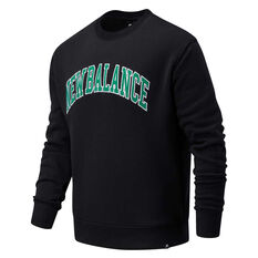 New Balance Athletics Mens Varsity Sweatshirt Black S, Black, rebel_hi-res